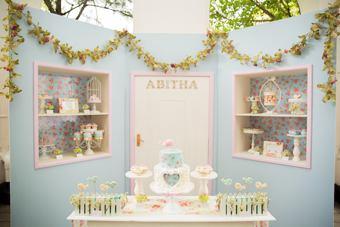 Shabby Chic Little Bird Birthday Party on Kara's Party Ideas | KarasPartyIdeas.com (12)