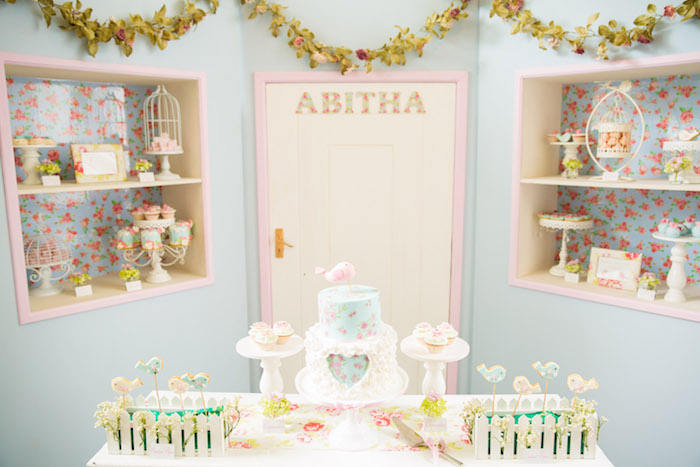 Shabby Chic Little Bird Birthday Party on Kara's Party Ideas | KarasPartyIdeas.com (5)