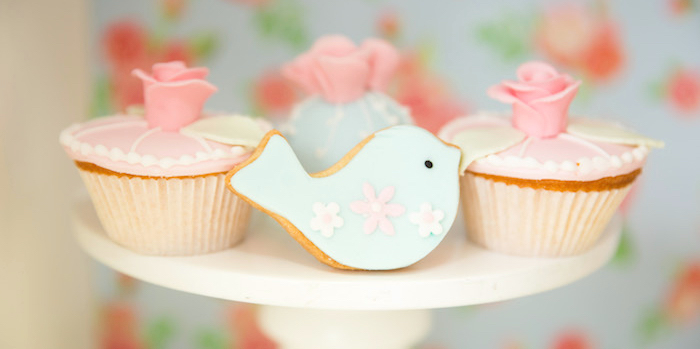 Shabby Chic Little Bird Birthday Party on Kara's Party Ideas | KarasPartyIdeas.com (3)