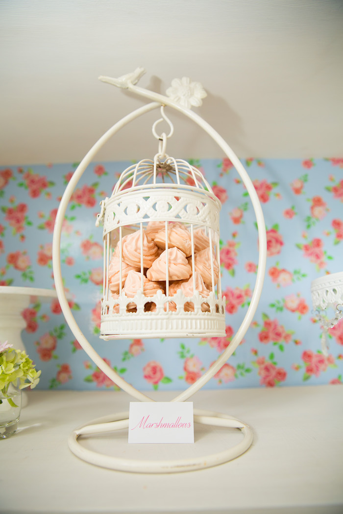 Meringue kisses from a Shabby Chic Little Bird Birthday Party on Kara's Party Ideas | KarasPartyIdeas.com (30)