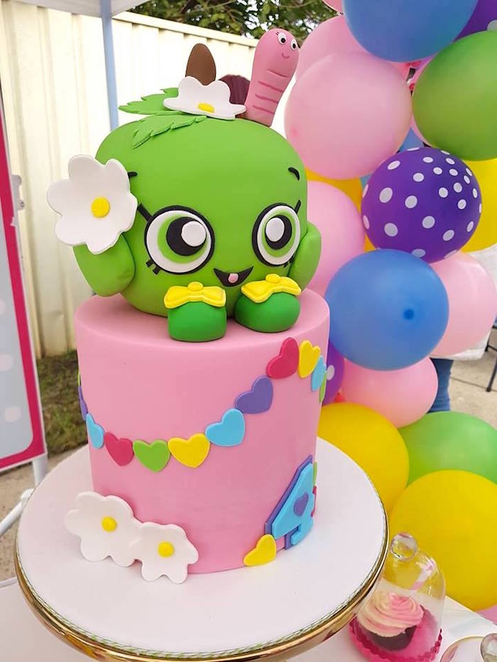 Shopkins Birthday Cake from a Shopkins Birthday Party via Kara's Party Ideas | KarasPartyIdeas.com (13)