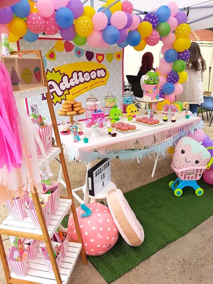 Head table from a Shopkins Birthday Party via Kara's Party Ideas | KarasPartyIdeas.com (12)