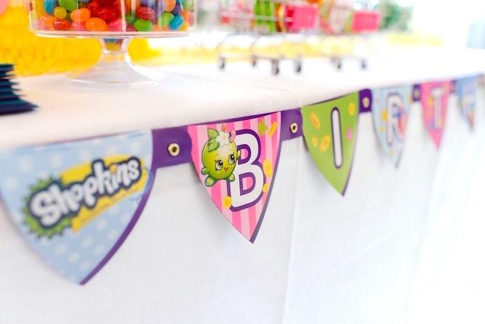 Banner from a Shopkins Birthday Party via Kara's Party Ideas   KarasPartyIdeas.com (26)