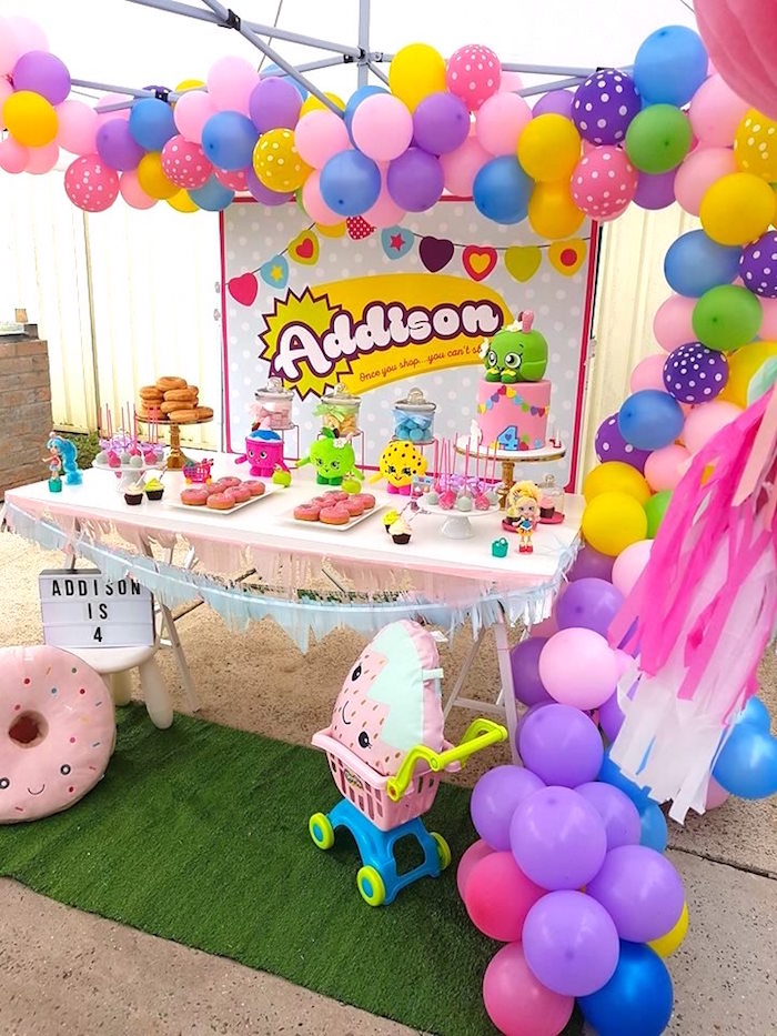 Shopkins Party Table from a Shopkins Birthday Party via Kara's Party Ideas | KarasPartyIdeas.com (10)