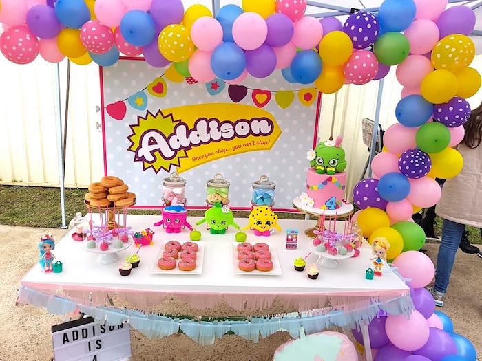 Sweet table from a Shopkins Birthday Party via Kara's Party Ideas | KarasPartyIdeas.com (8)