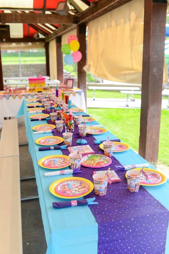 Party table from a Shopkins Birthday Party via Kara's Party Ideas   KarasPartyIdeas.com (21)