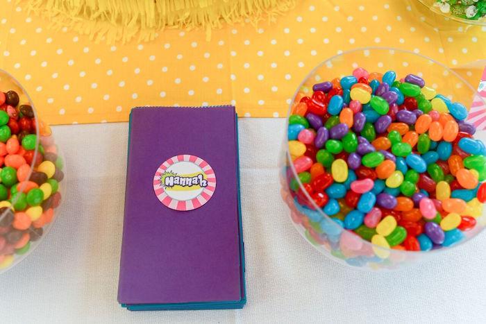 Jelly beans from a Shopkins Birthday Party via Kara's Party Ideas   KarasPartyIdeas.com (16)