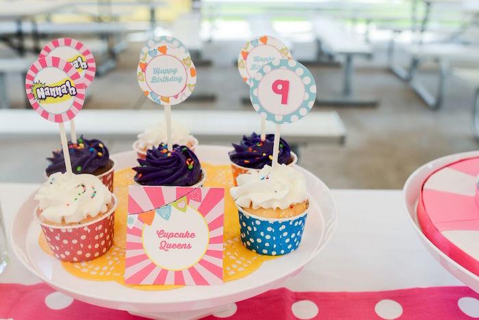 Cupcakes from a Shopkins Birthday Party via Kara's Party Ideas   KarasPartyIdeas.com (12)