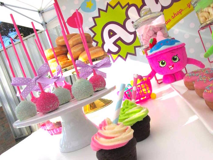 Cupcakes & cake pops from a Shopkins Birthday Party via Kara's Party Ideas | KarasPartyIdeas.com (21)
