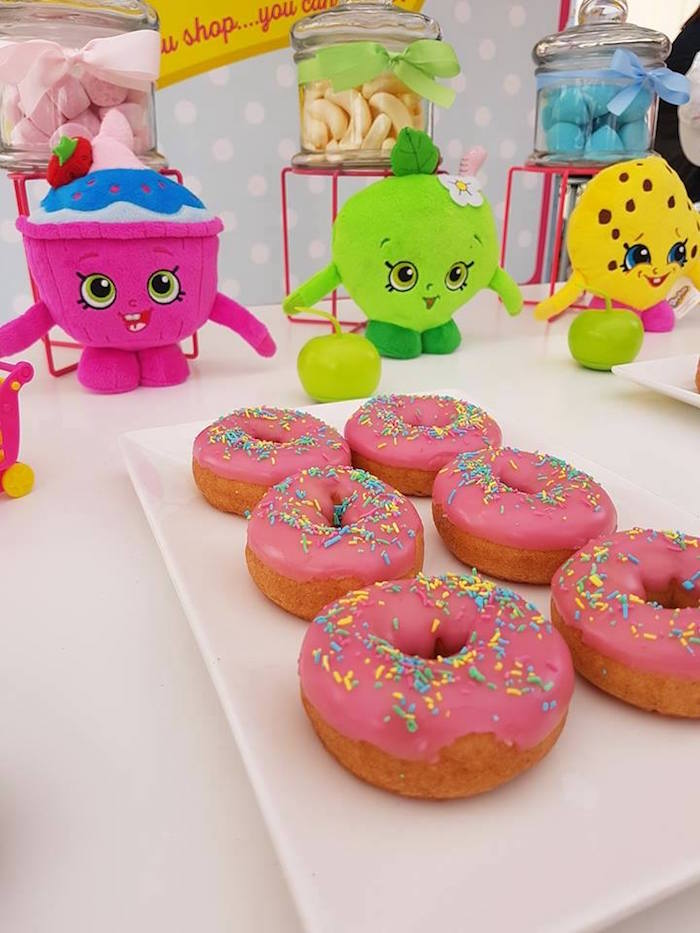 Doughnuts from a Shopkins Birthday Party via Kara's Party Ideas | KarasPartyIdeas.com (18)