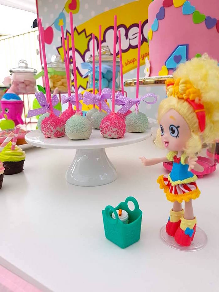 Shoplkins doll + cake pops from a Shopkins Birthday Party via Kara's Party Ideas | KarasPartyIdeas.com (17)