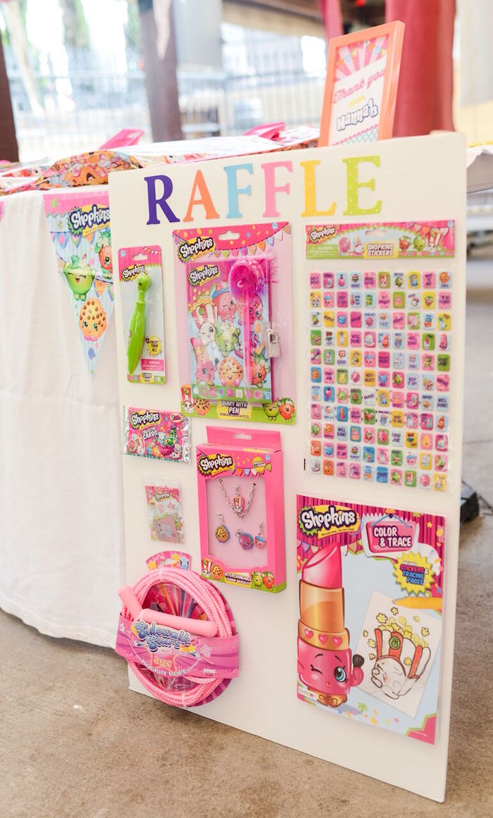 Raffle board from a Shopkins Birthday Party via Kara's Party Ideas   KarasPartyIdeas.com (30)