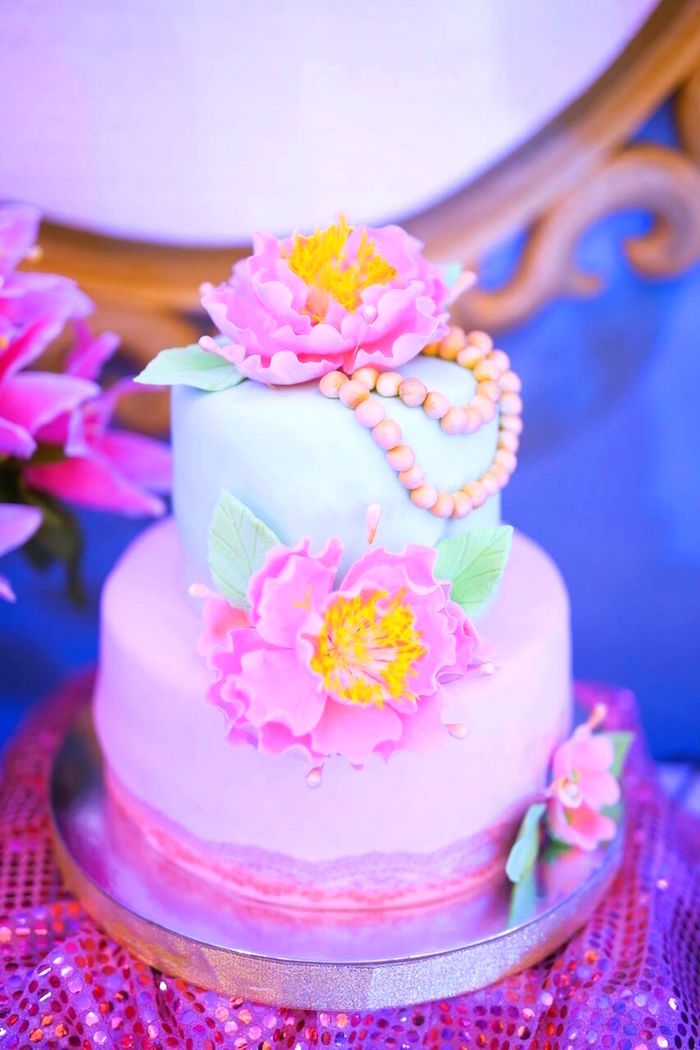 Victorian Cake from a Sweet Victorian Tea Party on Kara's Party Ideas | KarasPartyIdeas.com (7)