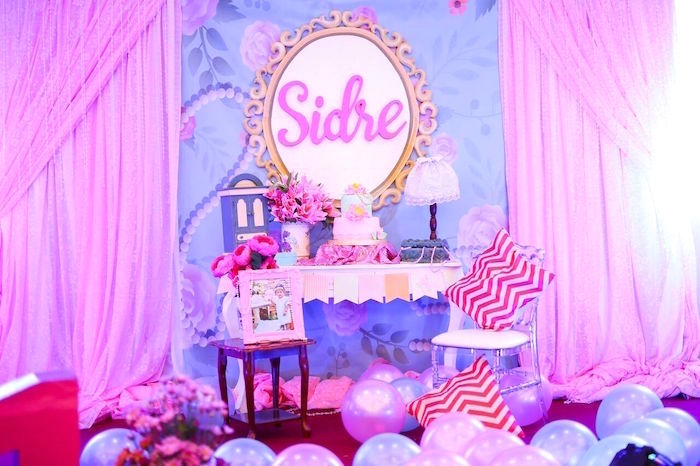 Cake table from a Sweet Victorian Tea Party on Kara's Party Ideas | KarasPartyIdeas.com (6)