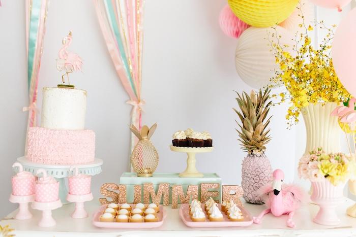 Tropical Flamingo Party on Kara's Party Ideas | KarasPartyIdeas.com (13)