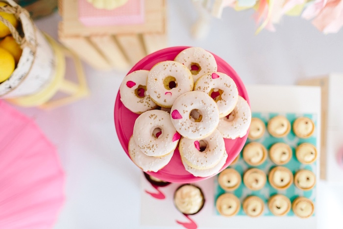 Donut cookies from a Tropical Flamingo Party on Kara's Party Ideas | KarasPartyIdeas.com (12)