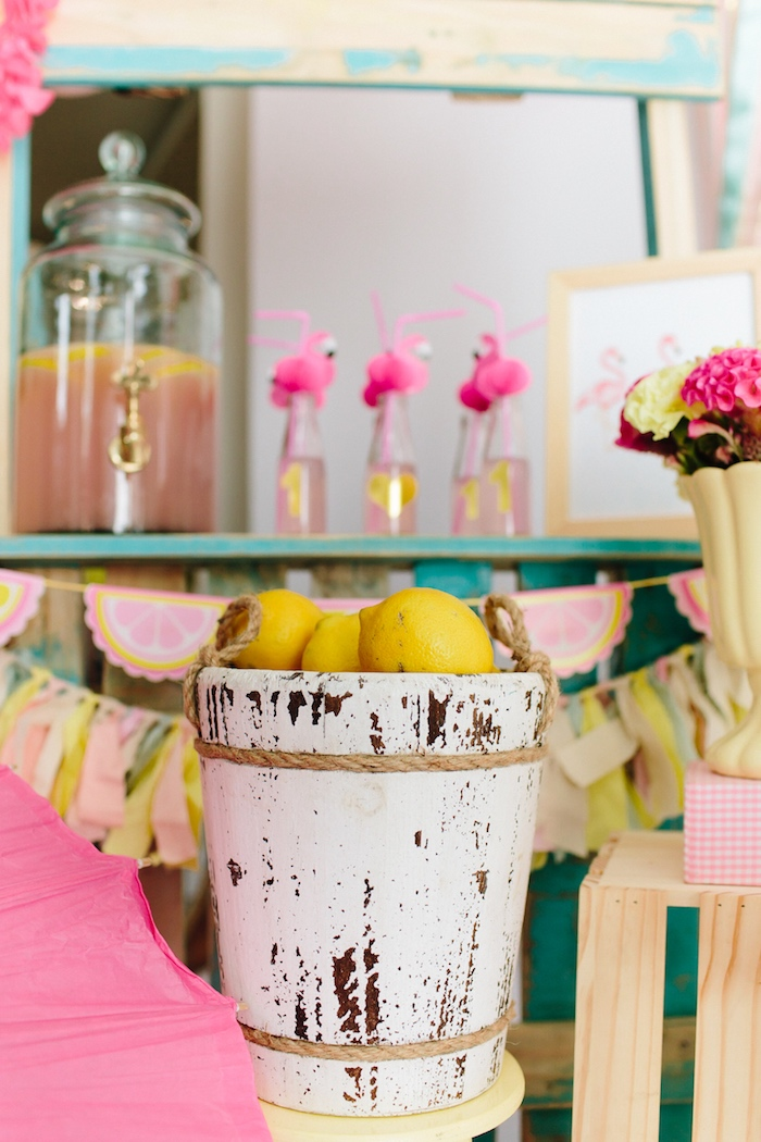 Drink station from a Tropical Flamingo Party on Kara's Party Ideas | KarasPartyIdeas.com (11)