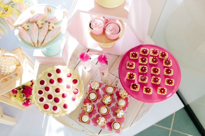 Desserts from a Tropical Flamingo Party on Kara's Party Ideas | KarasPartyIdeas.com (9)