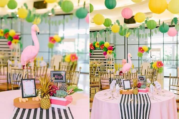 Kara's Party Ideas Tropically Flamingo Themed Birthday ...