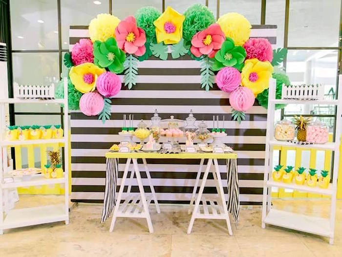 Karas Party Ideas Tropically Flamingo Themed Birthday