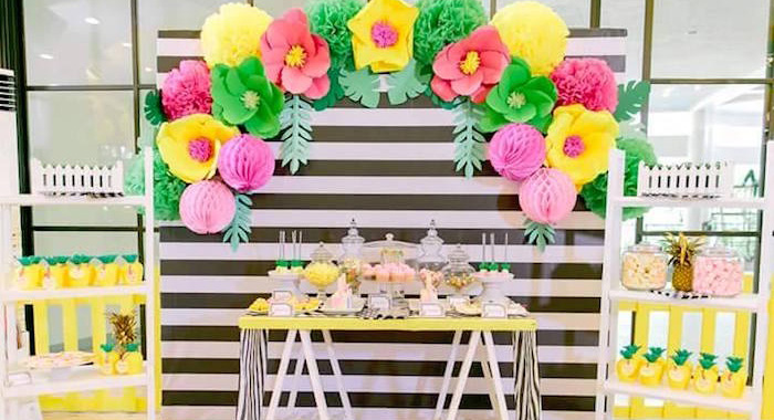 Tropical Flamingo Themed Birthday Party via Kara's Party Ideas - KarasPartyIdeas.com (1)