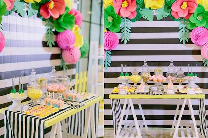 kara s party ideas tropically flamingo themed birthday party