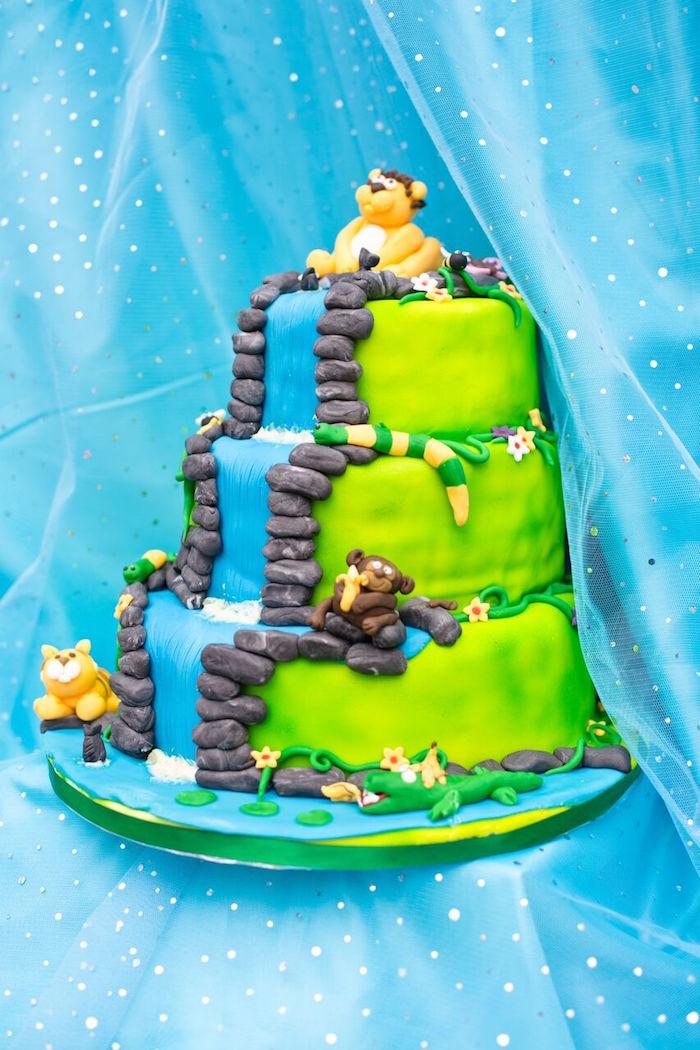 Tropical Rainforest Jungle Animal Birthday Party on Kara's Party Ideas   KarasPartyIdeas.com (39)