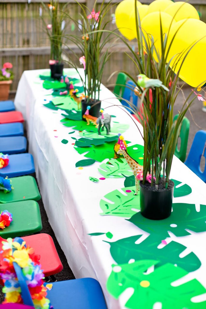 Kara's Party Ideas Tropical Rainforest Jungle Animal