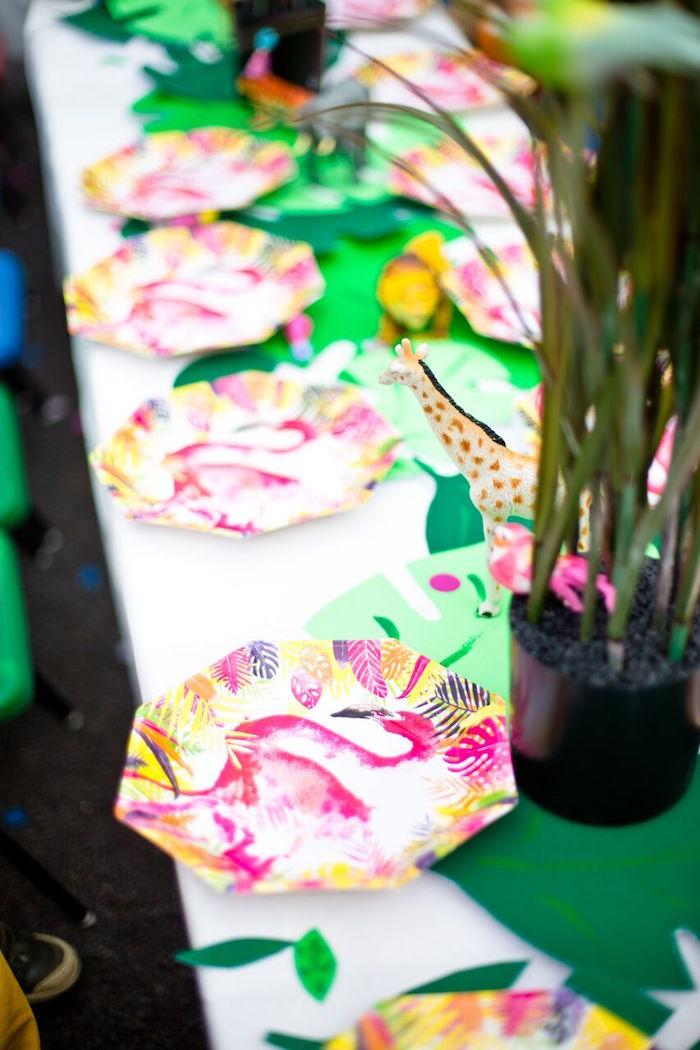 Tropical Rainforest Jungle Animal Birthday Party on Kara's Party Ideas   KarasPartyIdeas.com (23)