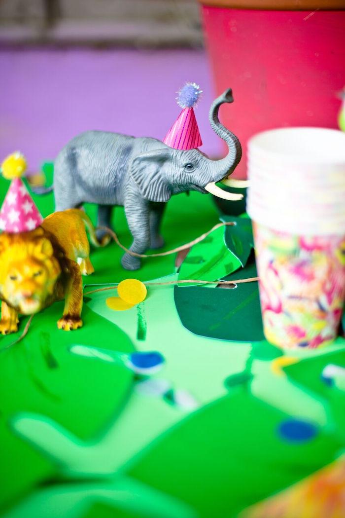Tropical Rainforest Jungle Animal Birthday Party on Kara's Party Ideas   KarasPartyIdeas.com (11)