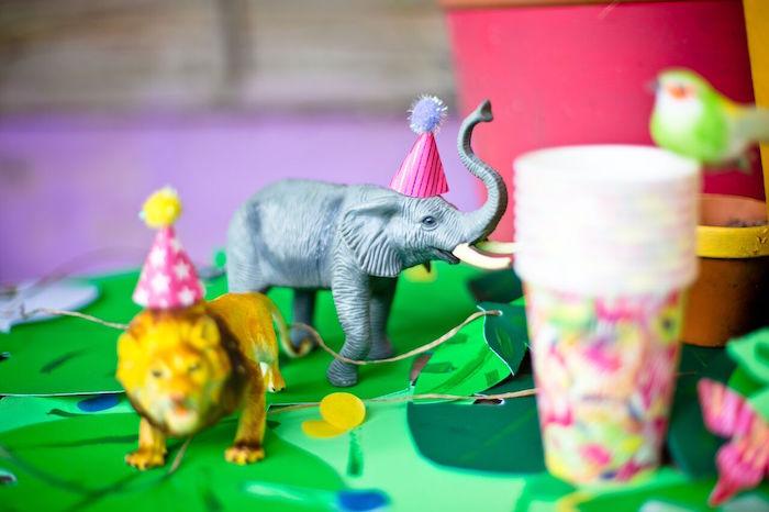 Tropical Rainforest Jungle Animal Birthday Party on Kara's Party Ideas   KarasPartyIdeas.com (10)