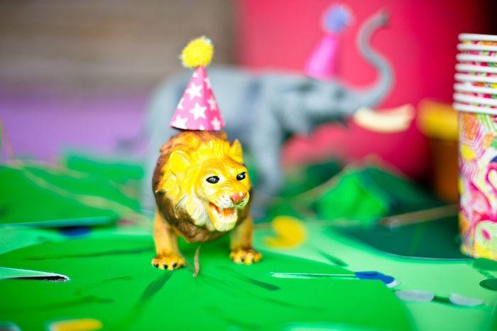 Tropical Rainforest Jungle Animal Birthday Party on Kara's Party Ideas   KarasPartyIdeas.com (9)