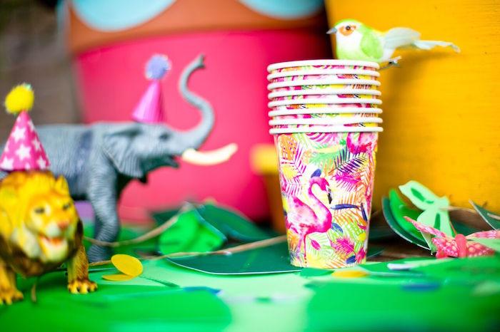Tropical Rainforest Jungle Animal Birthday Party on Kara's Party Ideas   KarasPartyIdeas.com (6)