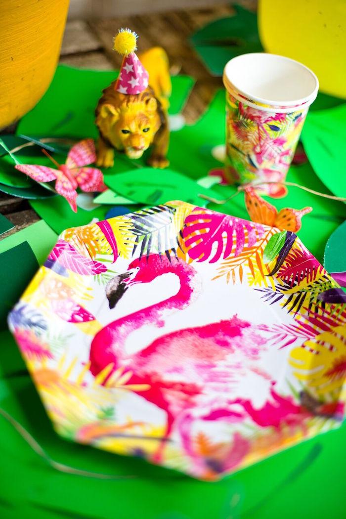 Tropical Rainforest Jungle Animal Birthday Party on Kara's Party Ideas   KarasPartyIdeas.com (5)