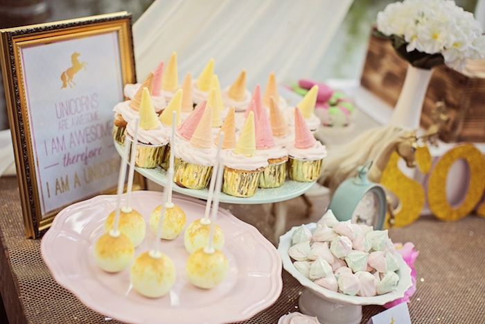 Party sweets from a Unicorn Birthday Party via Kara's Party Ideas | KarasPartyIdeas.com (27)