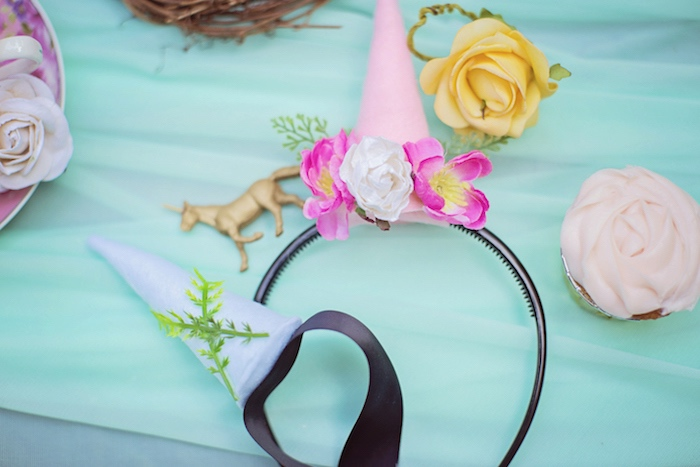 Unicorn headbands from a Unicorn Birthday Party via Kara's Party Ideas | KarasPartyIdeas.com (19)