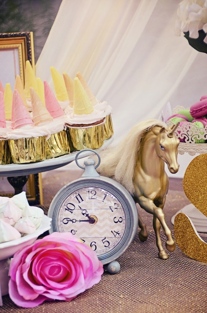 Beautiful party decor from a Unicorn Birthday Party via Kara's Party Ideas | KarasPartyIdeas.com (11)