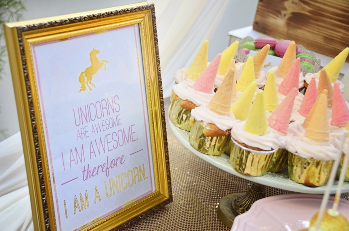 Unicorn cupcakes from a Unicorn Birthday Party via Kara's Party Ideas | KarasPartyIdeas.com (10)
