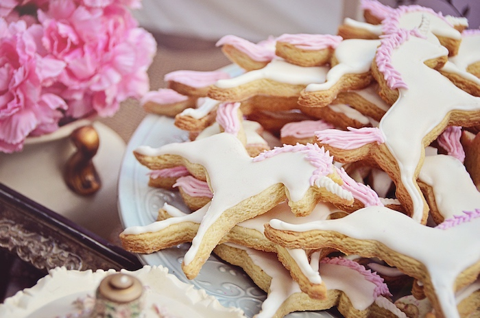 Unicorn sugar cookies from a Unicorn Birthday Party via Kara's Party Ideas | KarasPartyIdeas.com (7)