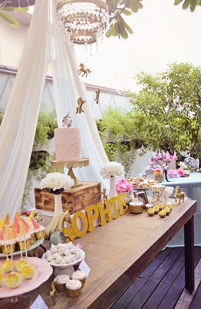 Pink And Gold Party Decorations