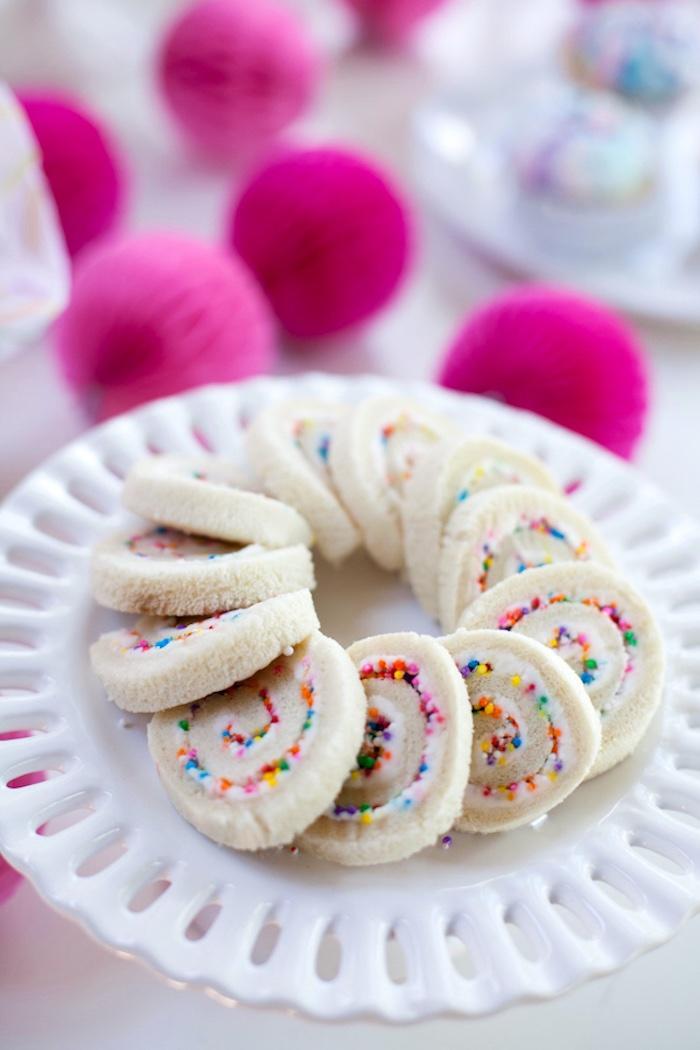 Kara's Party Ideas Cream Cheese Sprinkle Pinwheel ...