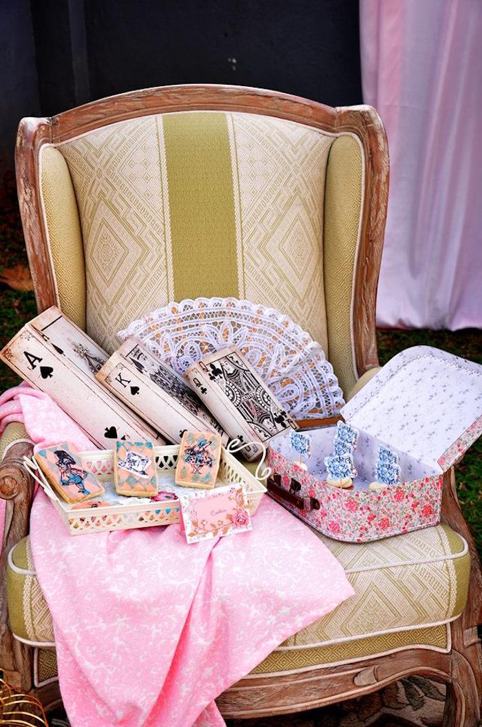 Vintage Alice in Wonderland Birthday Party on Kara's Party Ideas | KarasPartyIdeas.com (33)
