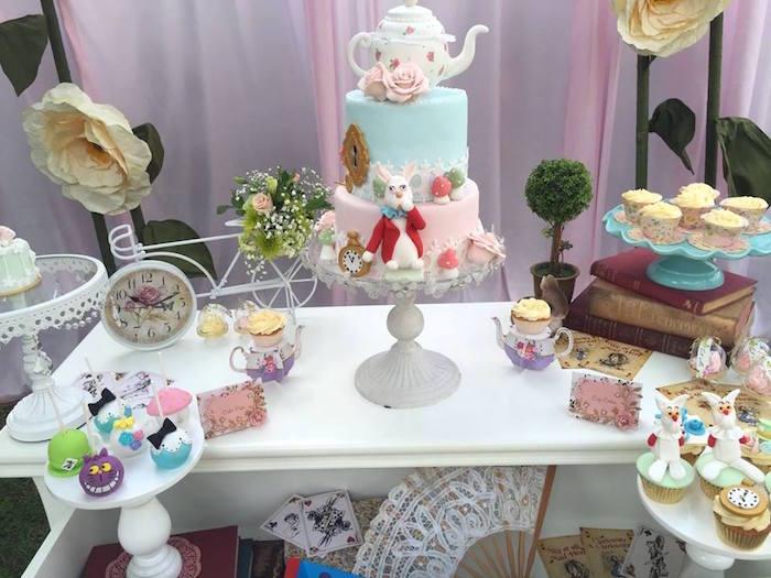 Vintage Alice in Wonderland Birthday Party on Kara's Party Ideas | KarasPartyIdeas.com (31)