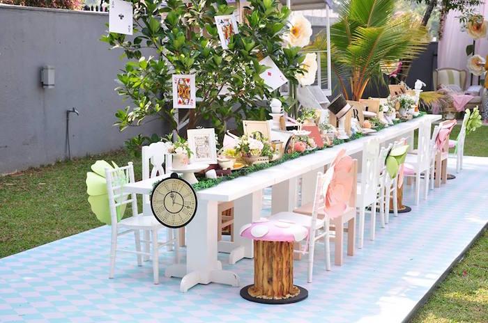 Vintage Alice in Wonderland Birthday Party on Kara's Party Ideas | KarasPartyIdeas.com (30)