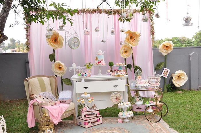 Vintage Alice in Wonderland Birthday Party on Kara's Party Ideas | KarasPartyIdeas.com (25)