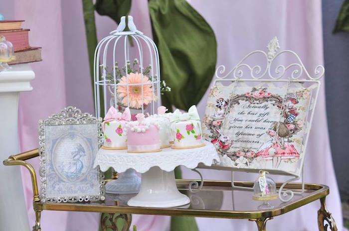 Vintage Alice in Wonderland Birthday Party on Kara's Party Ideas | KarasPartyIdeas.com (23)