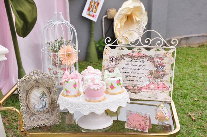 Vintage Alice in Wonderland Birthday Party on Kara's Party Ideas | KarasPartyIdeas.com (21)