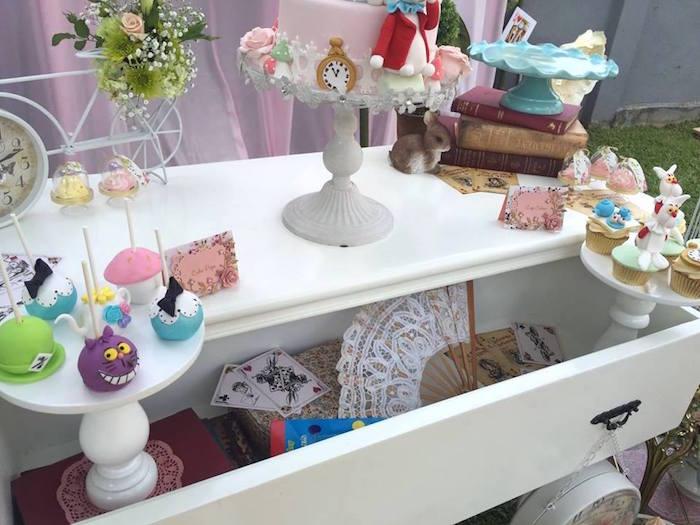 Vintage Alice in Wonderland Birthday Party on Kara's Party Ideas | KarasPartyIdeas.com (18)