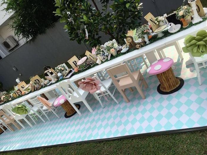 Vintage Alice in Wonderland Birthday Party on Kara's Party Ideas | KarasPartyIdeas.com (11)