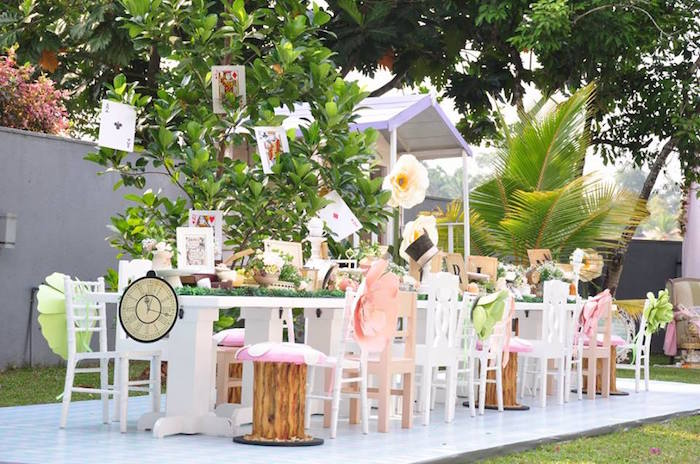 Vintage Alice in Wonderland Birthday Party on Kara's Party Ideas | KarasPartyIdeas.com (9)